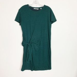 Vince | striped knotted t-shirt dress size small